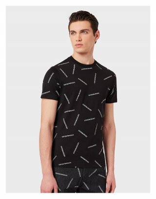 EMPORIO ARMANI - T-SHIRT IN JERSEY MERCE