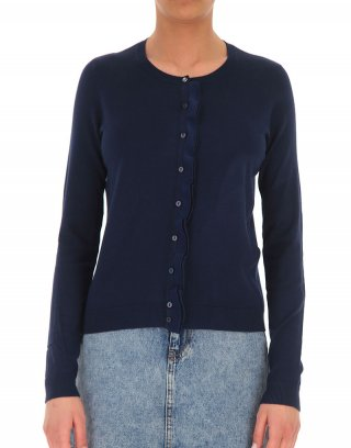 Liu Jo - Cardigan realizzato in morbida viscosa stretch con rouches