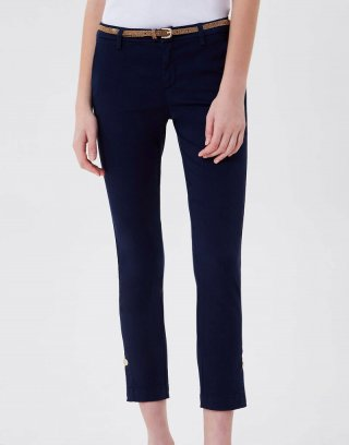 Liu Jo - Pantalone chino con cintura in raso stretch